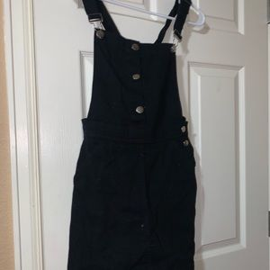 H&M Black Jean Overall Dress